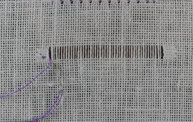 Overcast hem stitch method stage 3 photograph