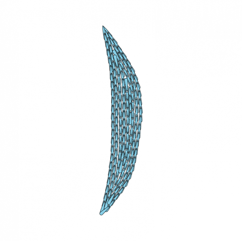 Padded satin stitch (split stitch padding) method stage 3 illustration