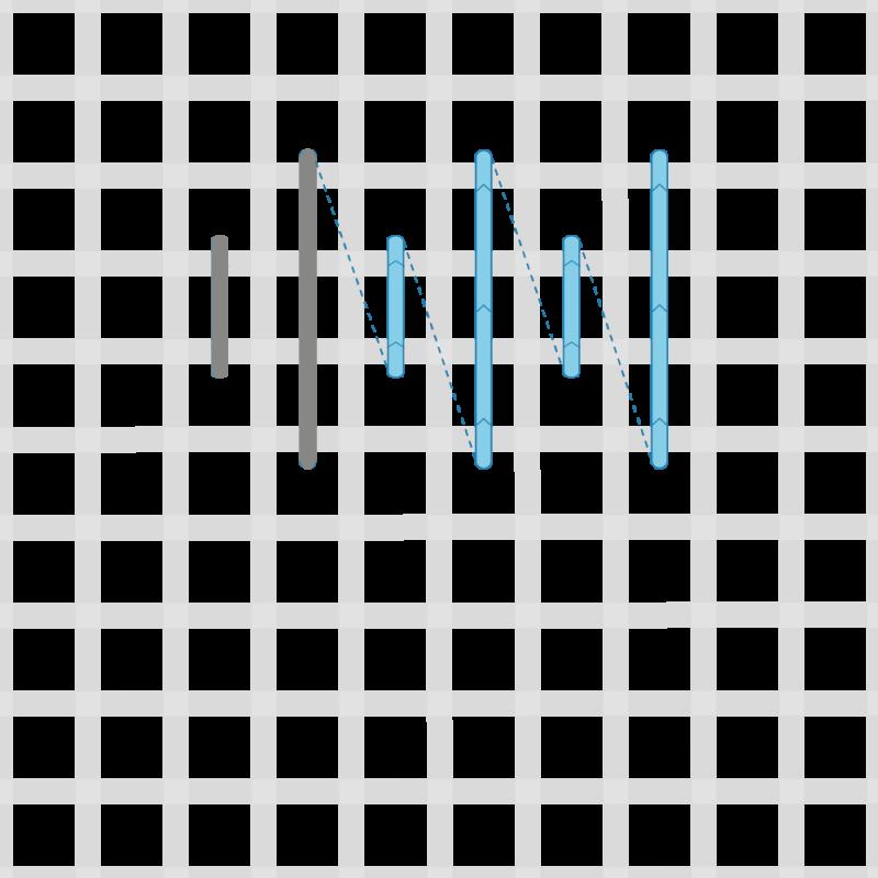 Parisian stitch method stage 2 illustration
