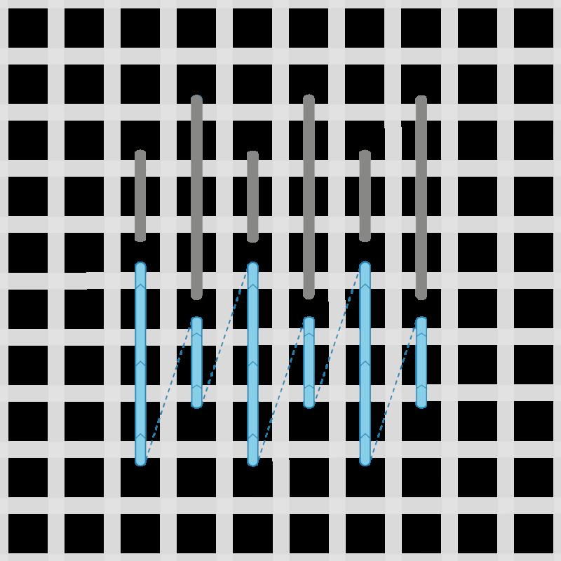 Parisian stitch method stage 3 illustration