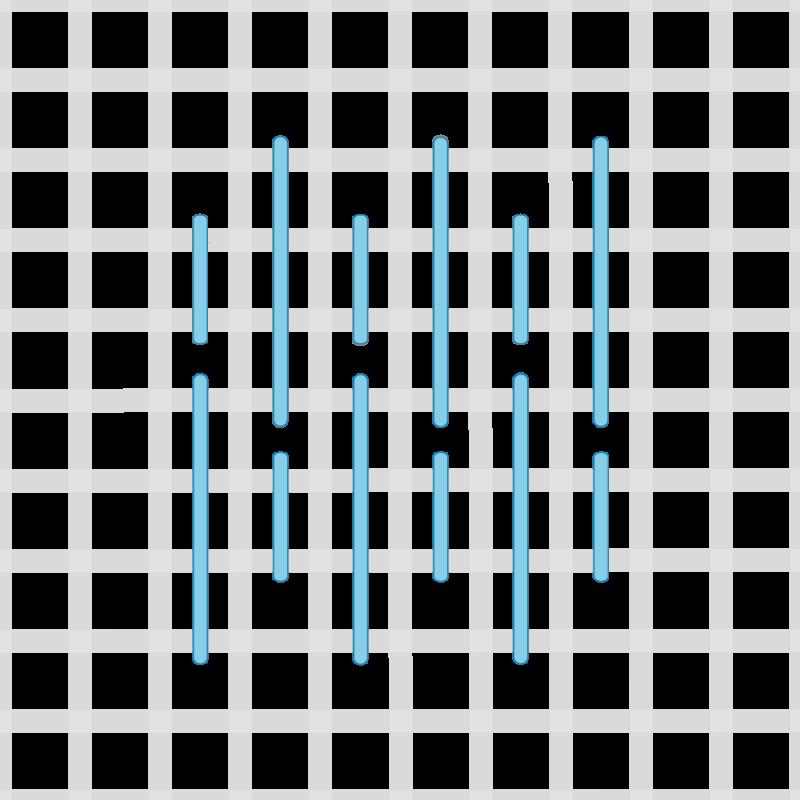Parisian stitch method stage 4 illustration
