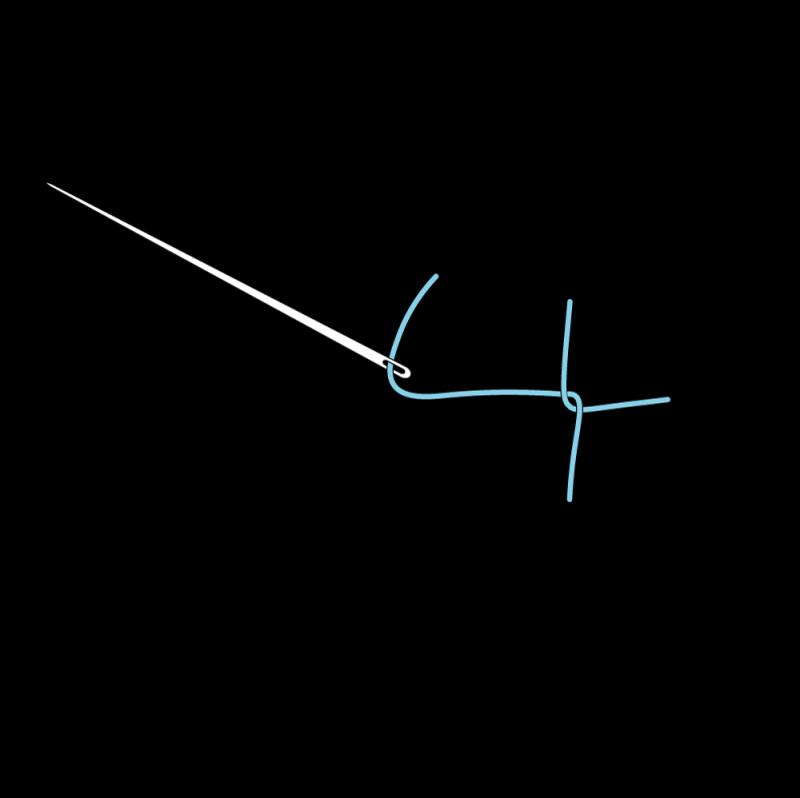 Pearl stitch (variation) method stage 4 illustration