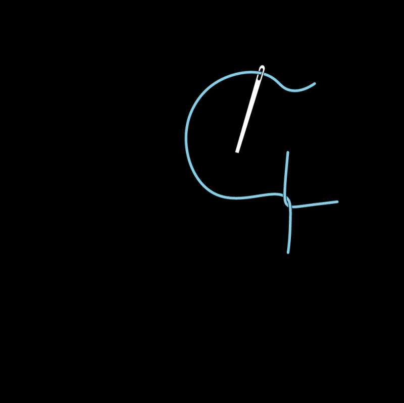 Pearl stitch (variation) method stage 5 illustration