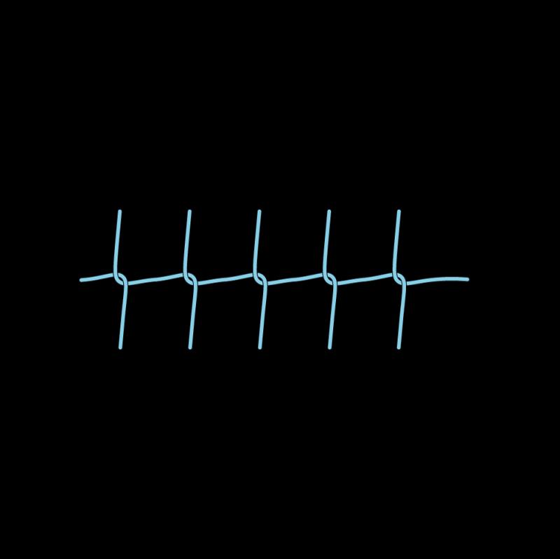 Pearl stitch (variation) method stage 8 illustration