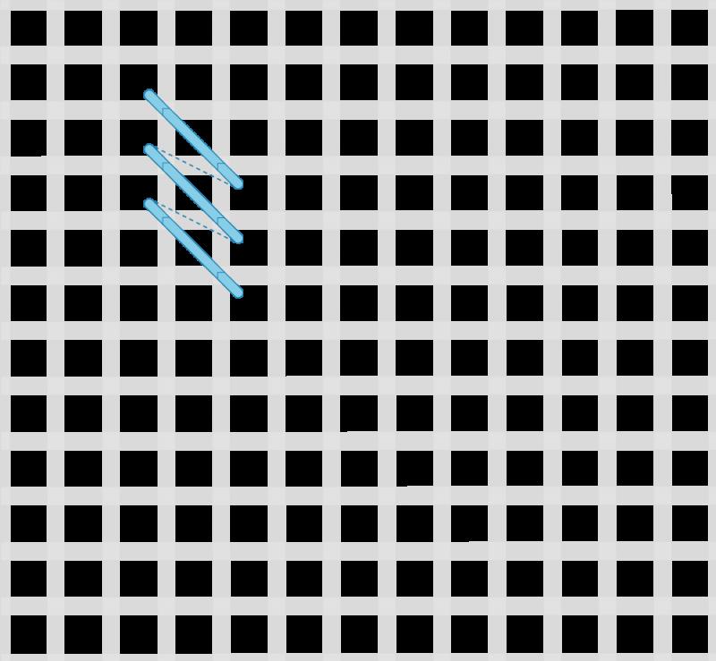Perspective stitch variation method stage 1 illustration