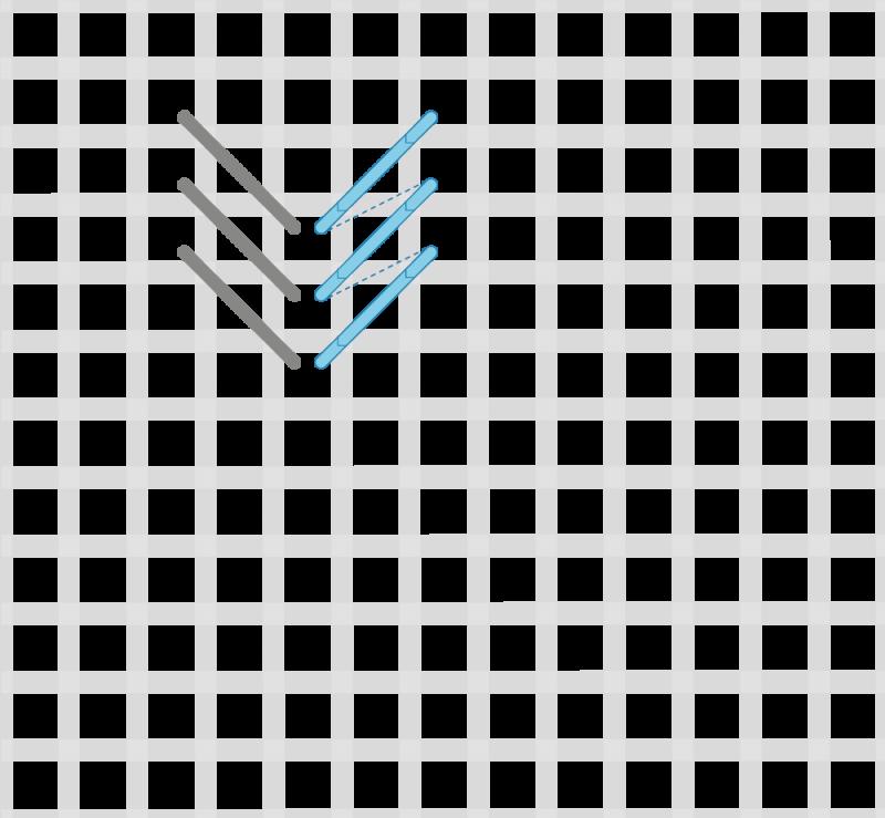 Perspective stitch variation method stage 2 illustration