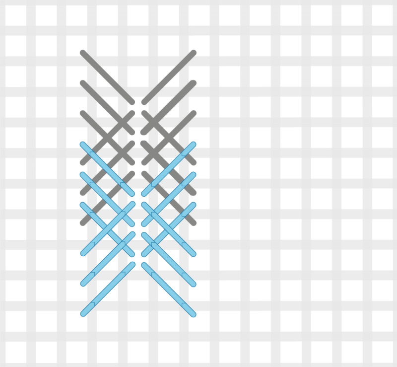 Perspective stitch variation method stage 4 illustration