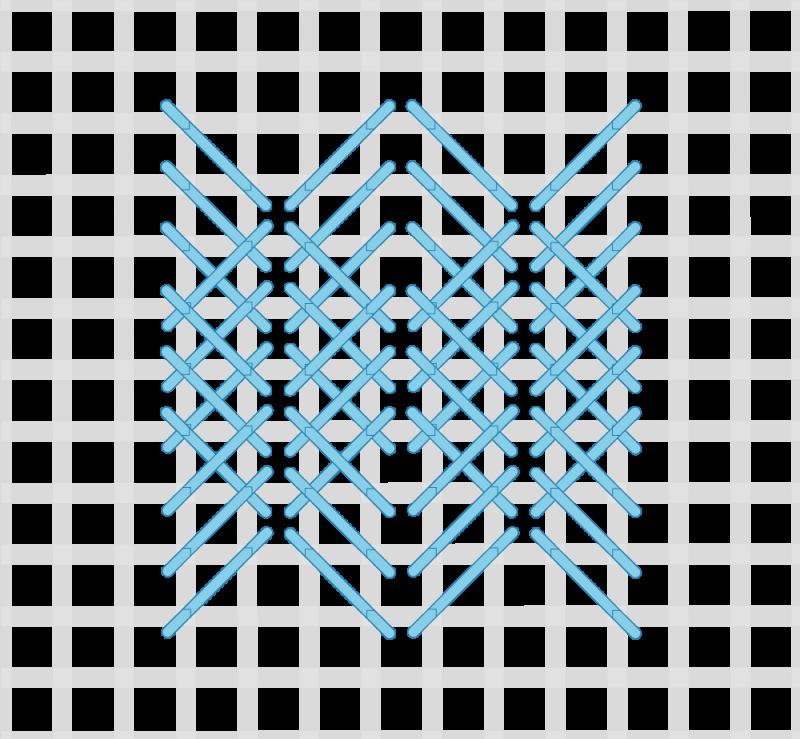 Perspective stitch variation method stage 5 illustration