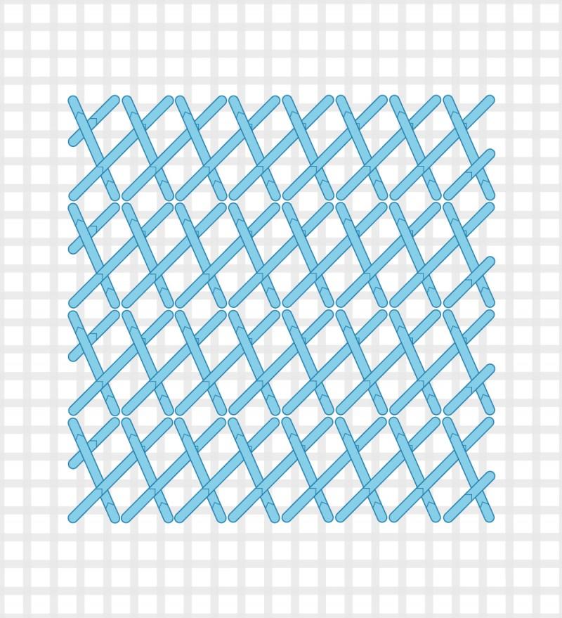 Plait stitch method stage 5 illustration