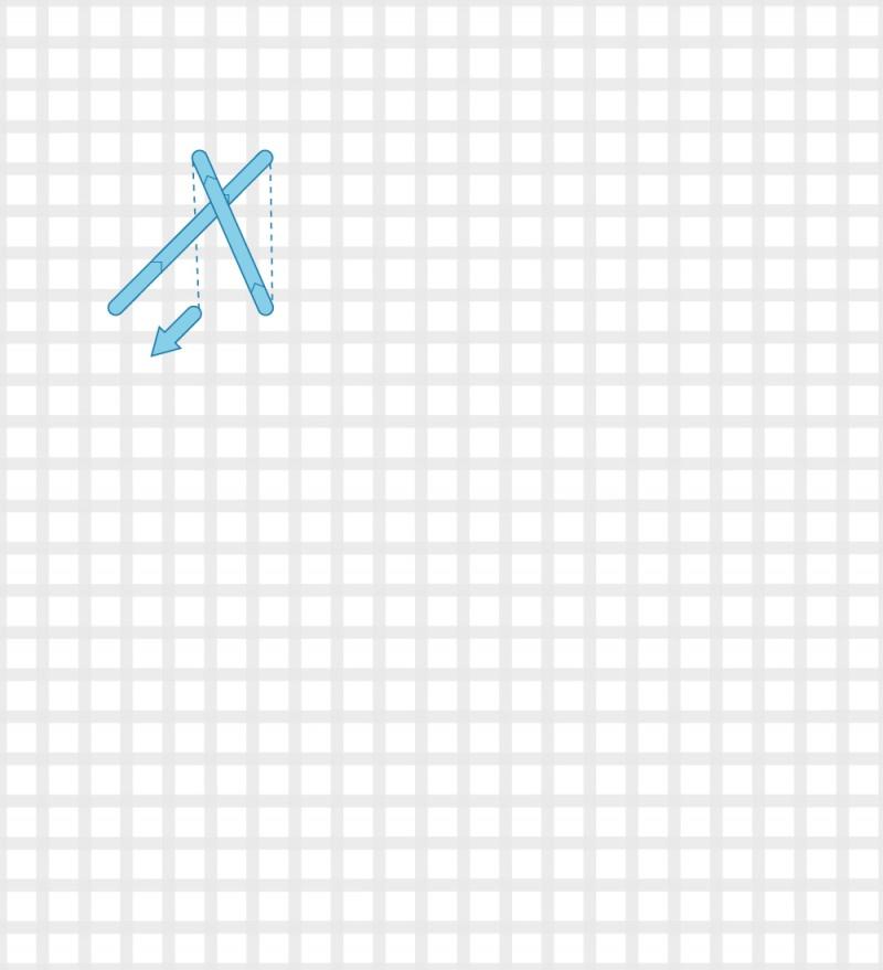 Plait stitch method stage 3 illustration