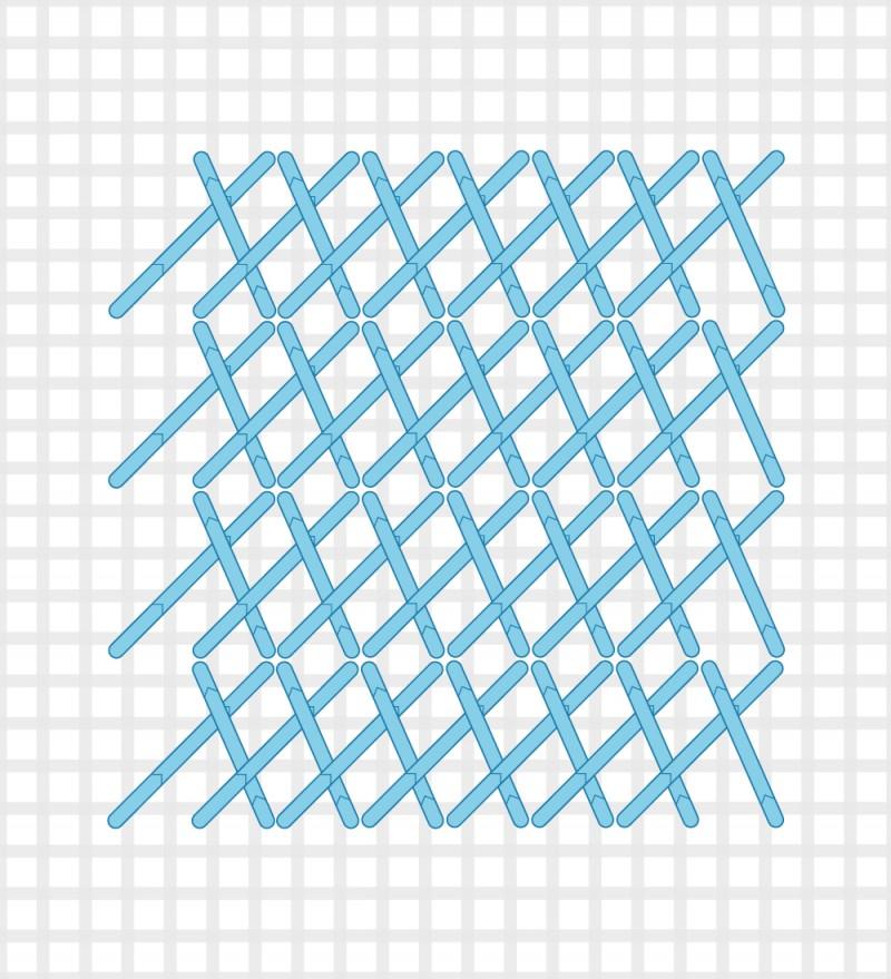 Plait stitch method stage 4 illustration