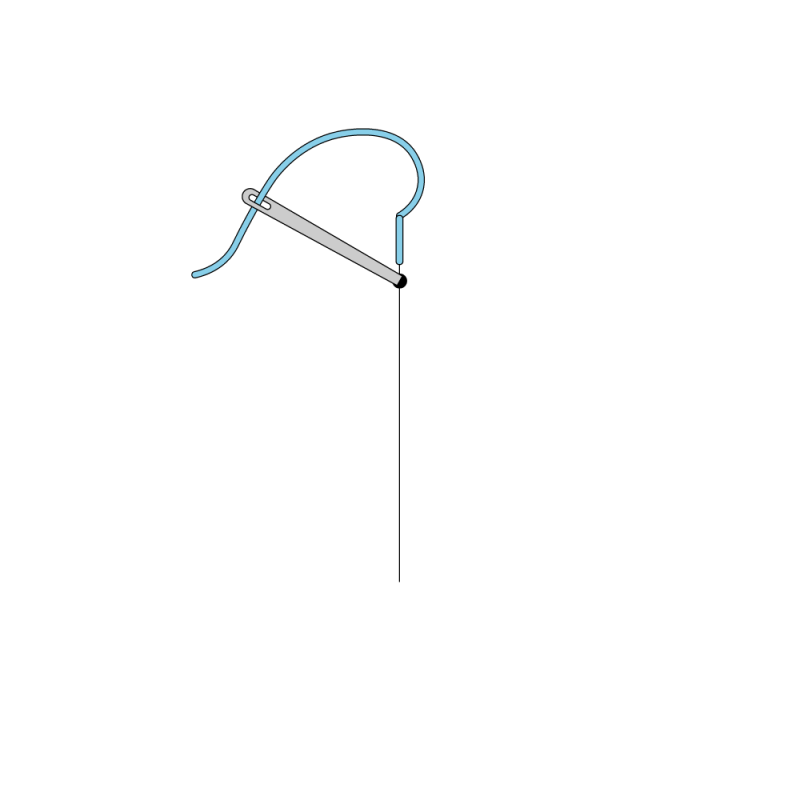 Quaker stitch method stage 3 illustration