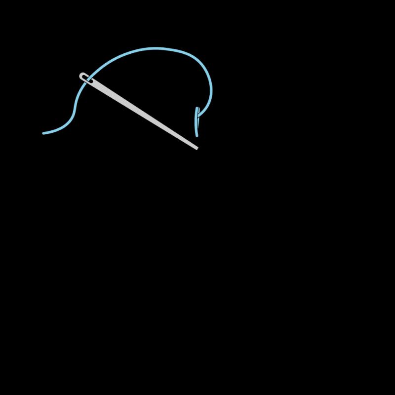 Quaker stitch method stage 6 illustration