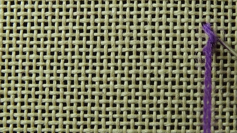 Rococo stitch method stage 1 photograph