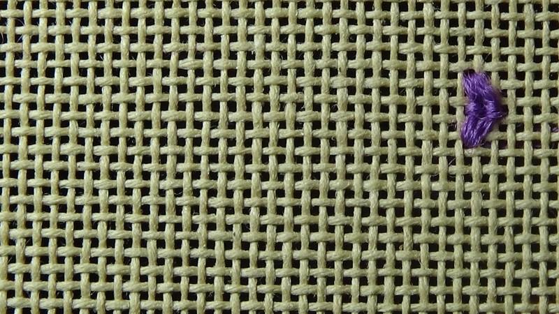Rococo stitch method stage 3 photograph