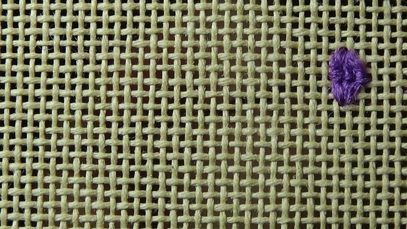 Rococo stitch method stage 4 photograph