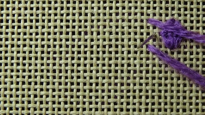 Rococo stitch method stage 6 photograph