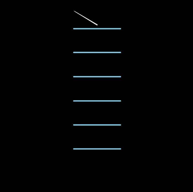 Raised chain band stitch method stage 2 illustration