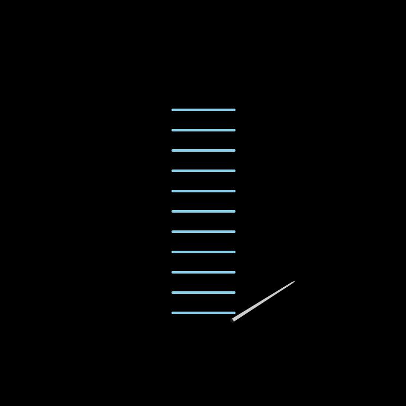 Raised stem band stitch method stage 2 illustration
