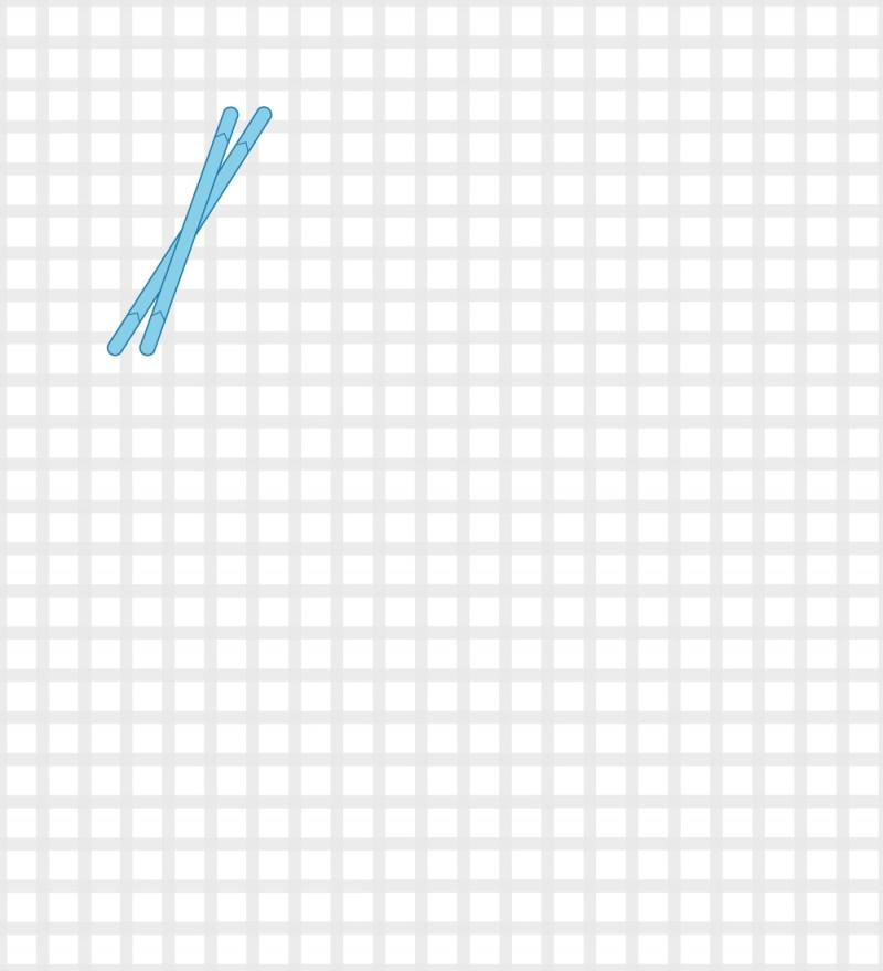 Rhodes stitch method stage 2 illustration