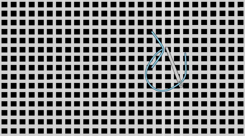 Rococo stitch method stage 1 illustration