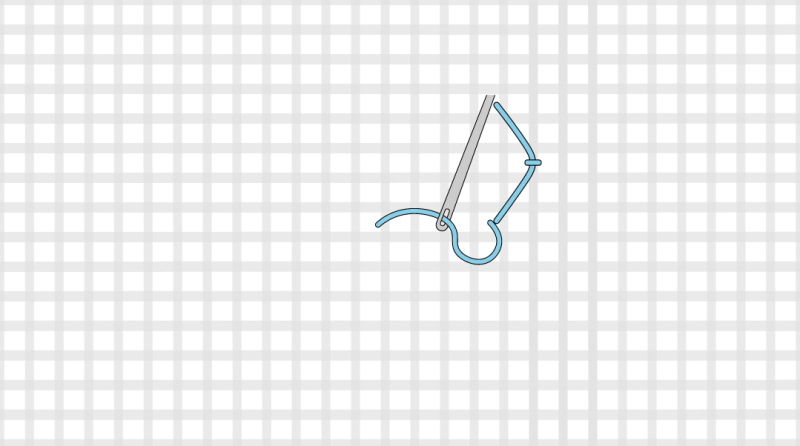 Rococo stitch method stage 2 illustration