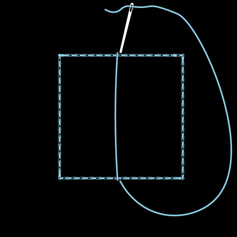 Satin stitch method stage 3 illustration