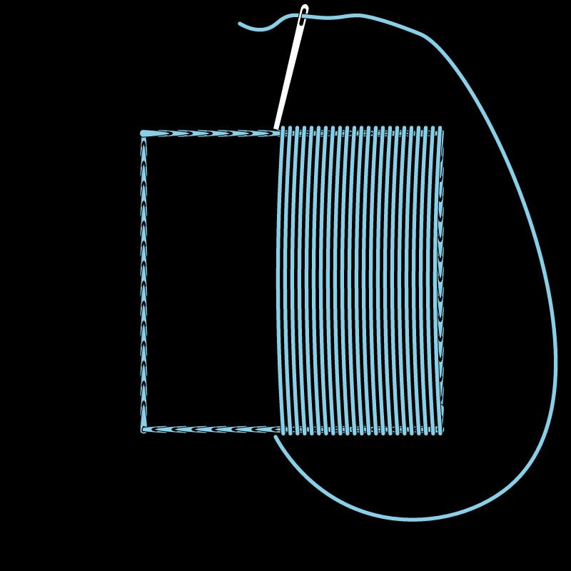 Satin stitch method stage 4 illustration