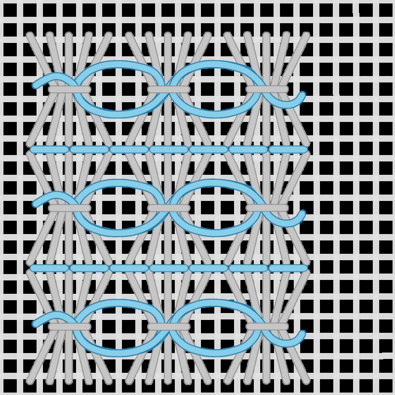Shell stitch method stage 10 illustration