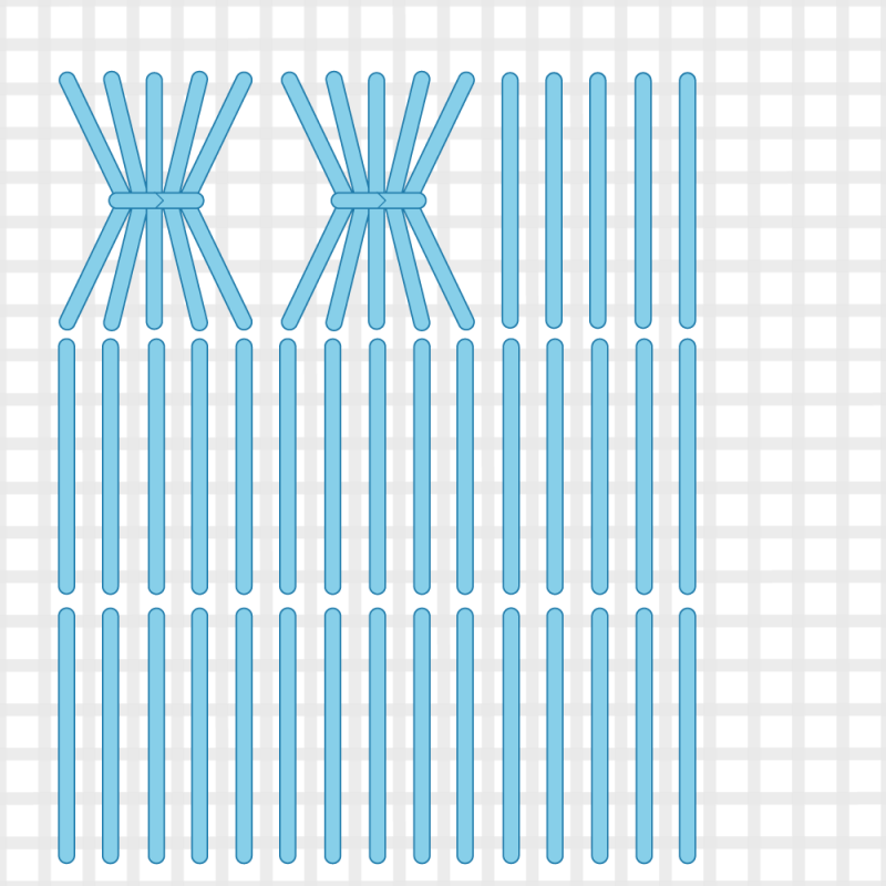 Shell stitch method stage 4 illustration