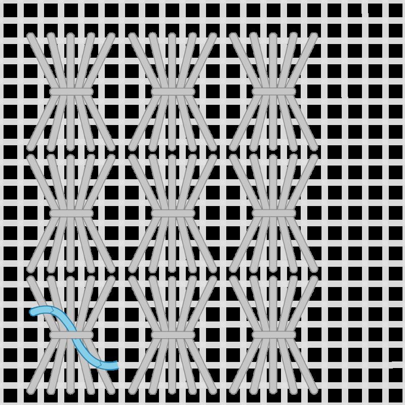Shell stitch method stage 5 illustration