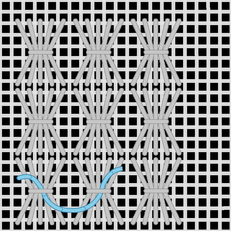 Shell stitch method stage 6 illustration