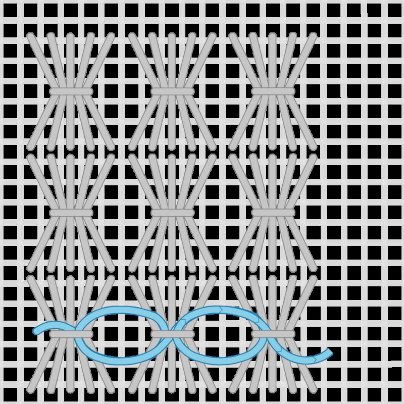 Shell stitch method stage 8 illustration