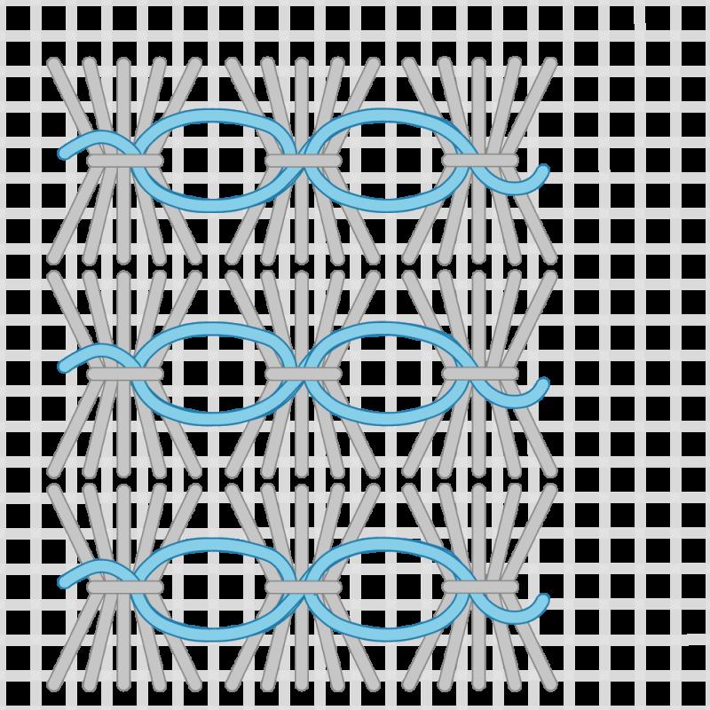 Shell stitch method stage 9 illustration