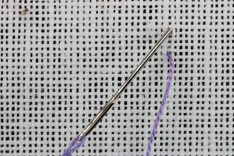 Single faggot stitch method stage 1 photograph