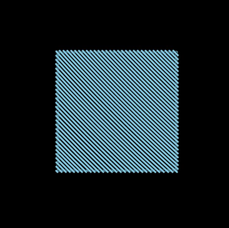 Slanted satin stitch method stage 5 illustration