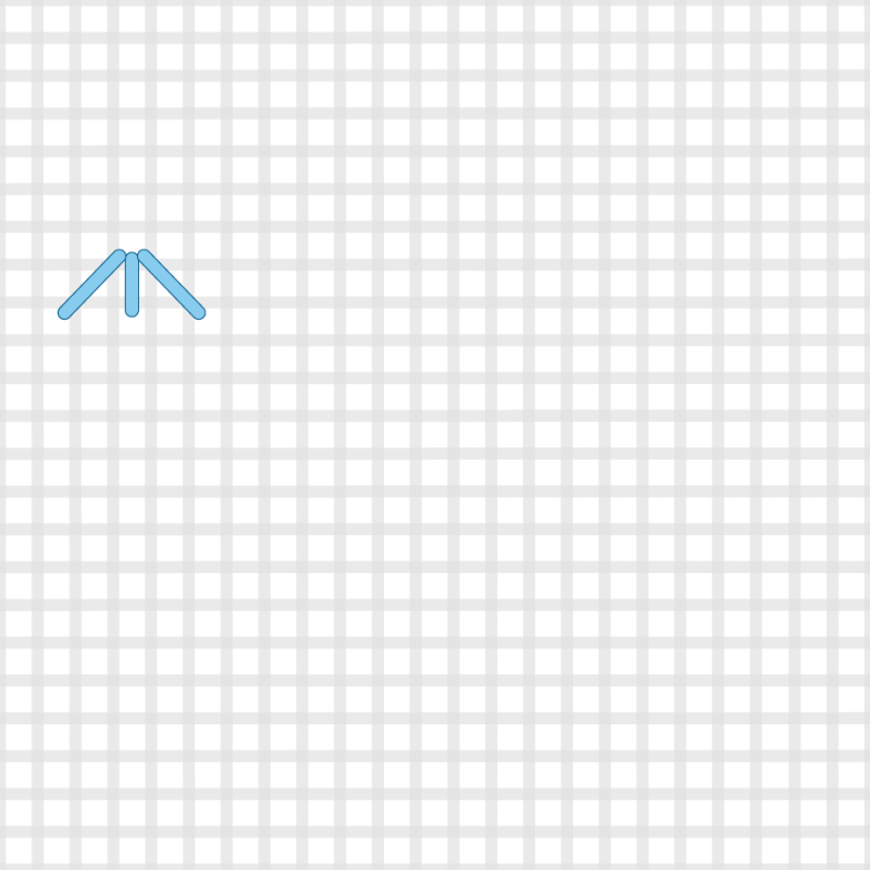 Small diamond (pattern) method stage 1 illustration