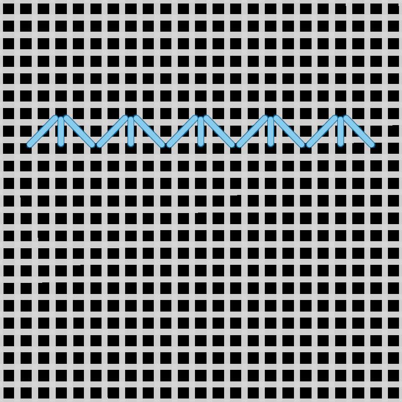 Small diamond (pattern) method stage 3 illustration