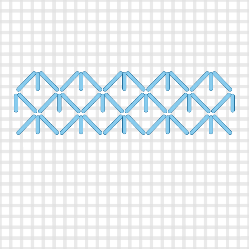 Small diamond (pattern) method stage 4 illustration