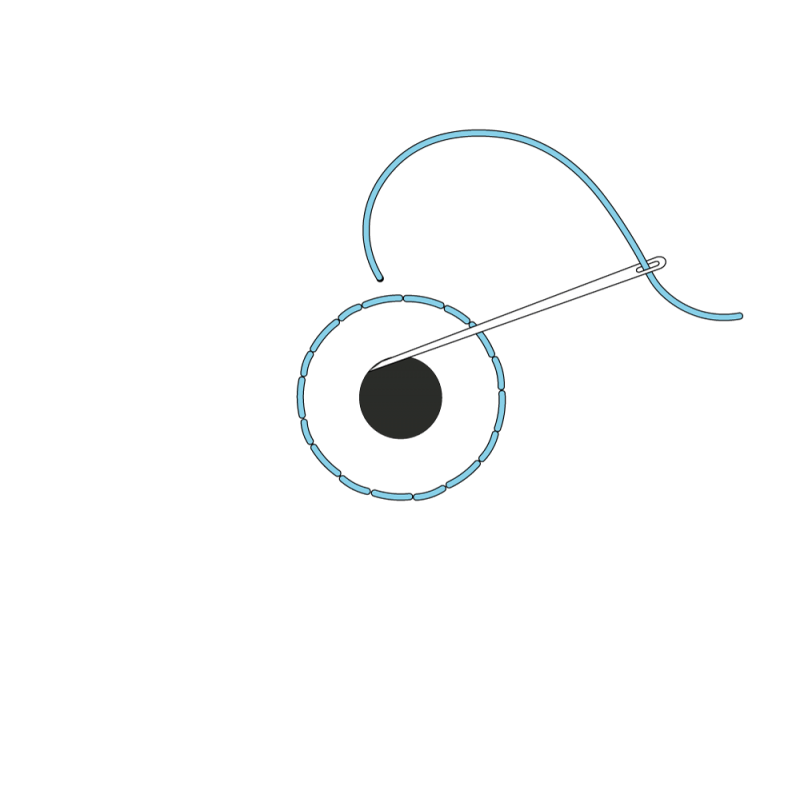 Small eyelet method stage 3 illustration