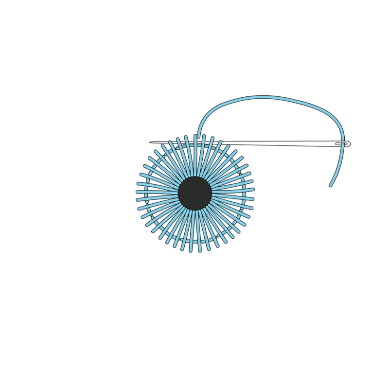 Small eyelet method stage 5 illustration