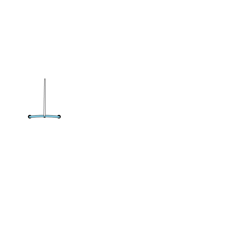Split stitch method stage 3 illustration