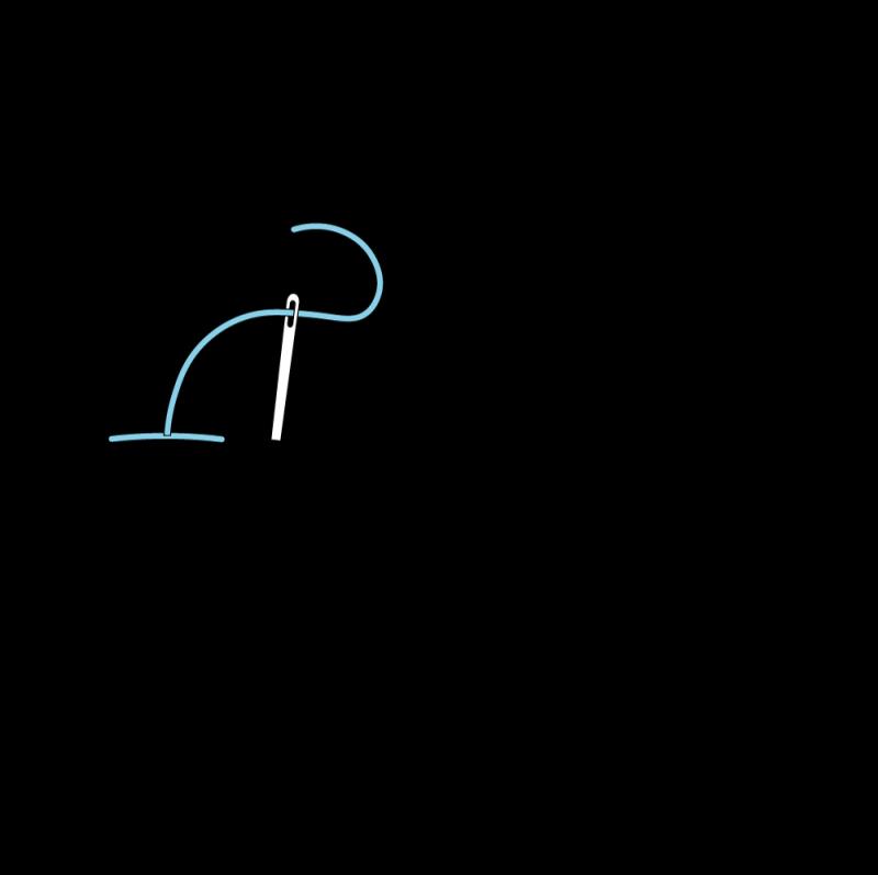 Split stitch method stage 4 illustration