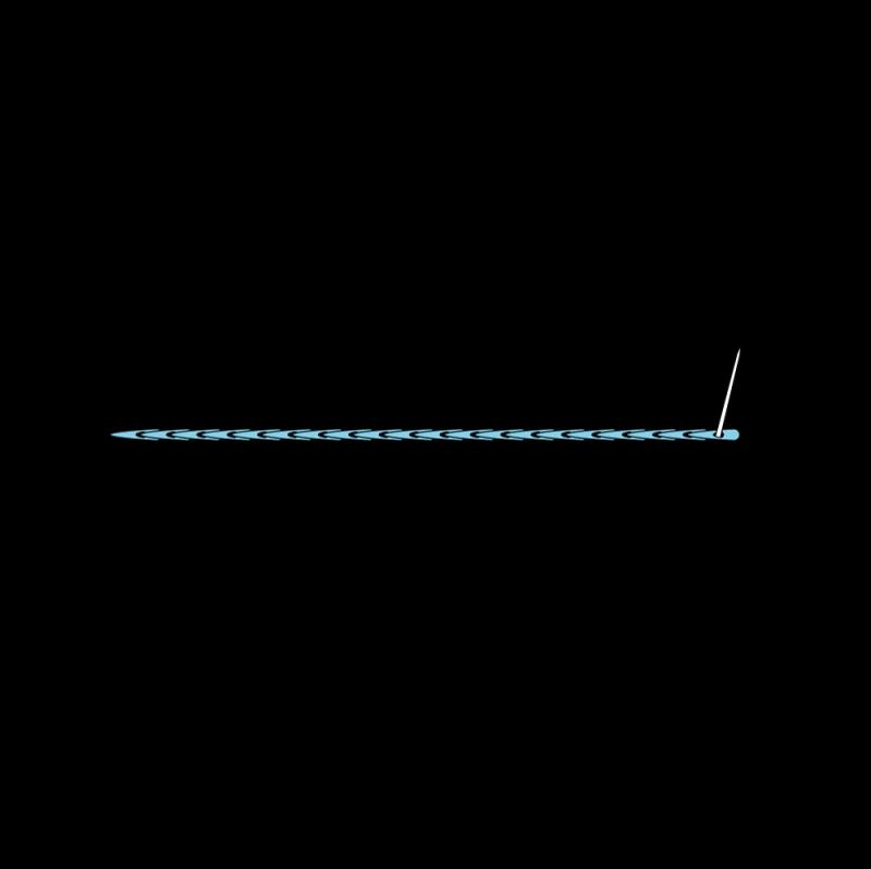 Split stitch method stage 7 illustration