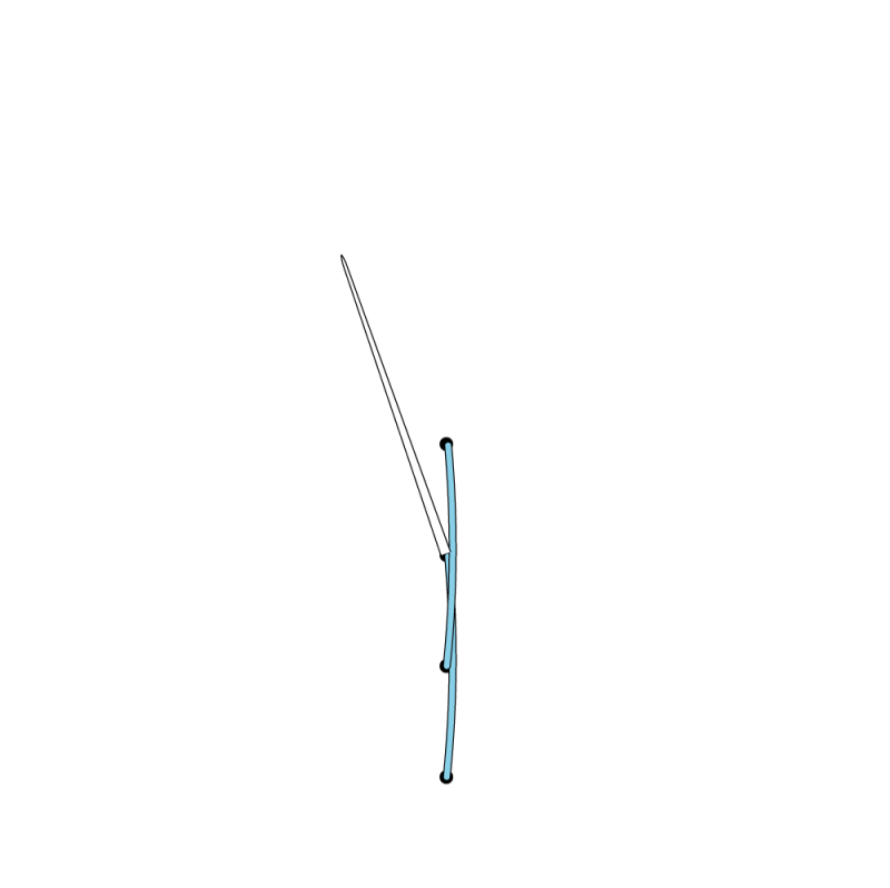 Stem stitch method stage 8 illustration