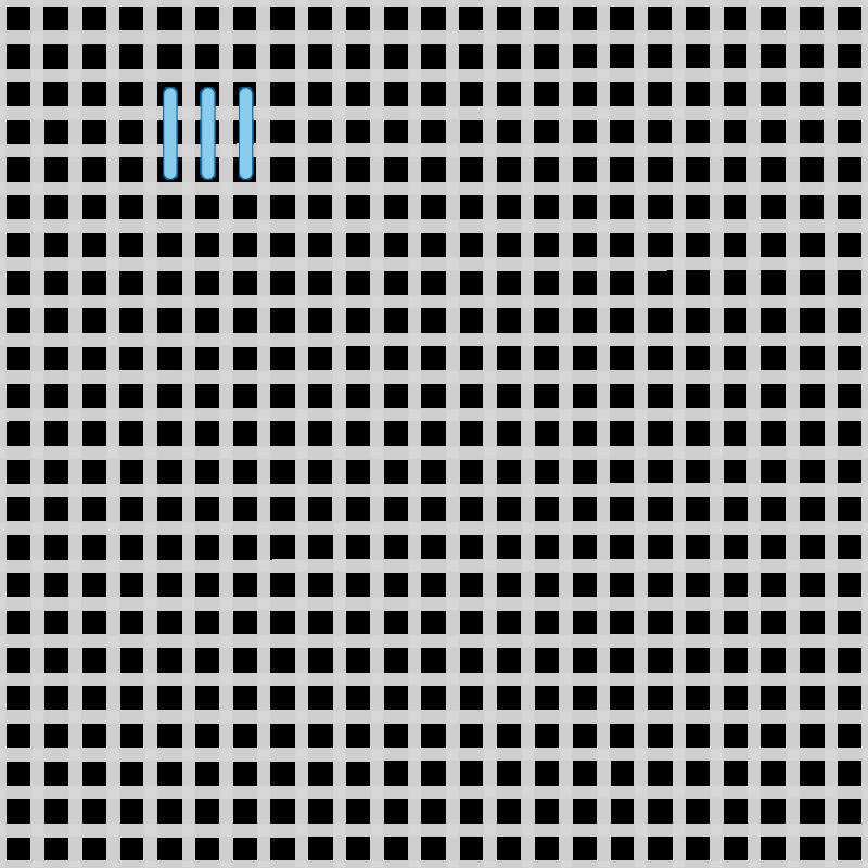 T-blocks (pattern) method stage 1 illustration
