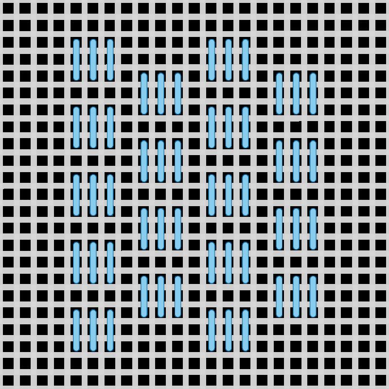 T-blocks (pattern) method stage 2 illustration