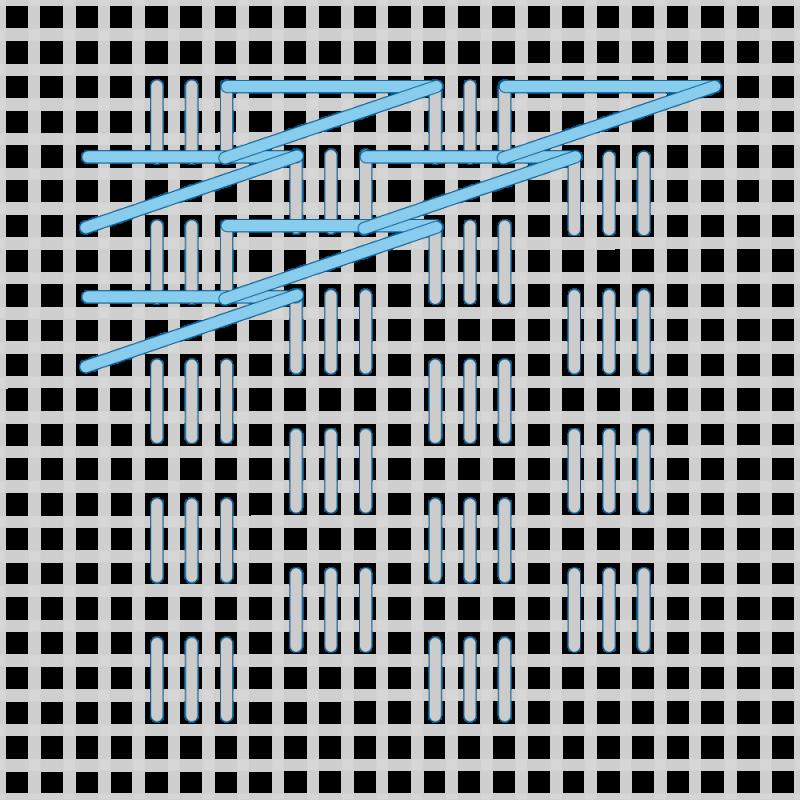 T-blocks (pattern) method stage 3 illustration