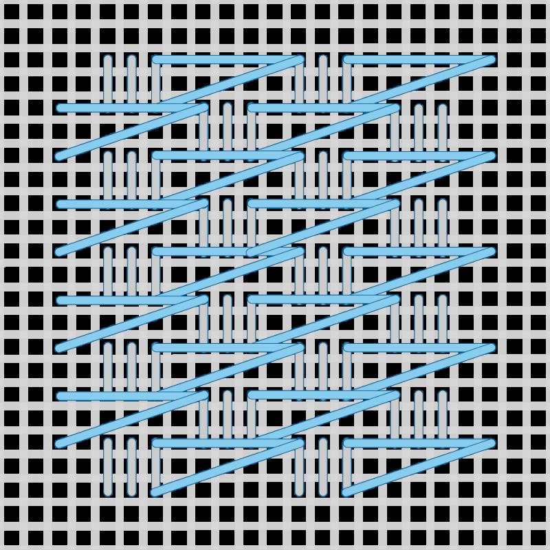 T-blocks (pattern) method stage 4 illustration