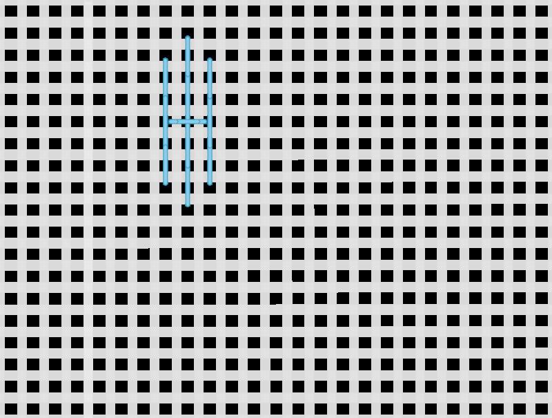 Tied pavilion stitch method stage 3 illustration